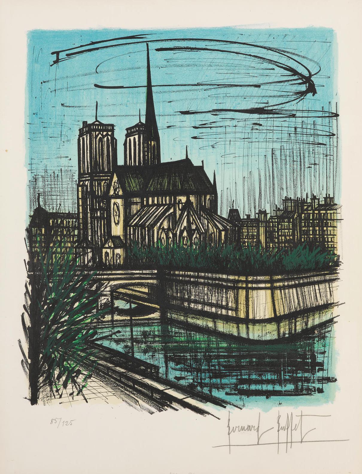 Bernard Buffet-Le Jardin De Leveche (S. 128)-1968