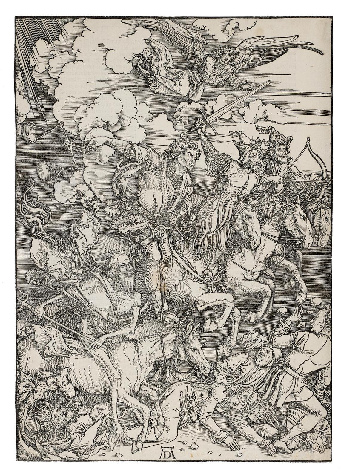 Albrecht Durer-The Four Horsemen Of The Apocalypse, From The Apocalypse (B. 64; M., Holl. 167; S.M.S. 115), 1497/98-