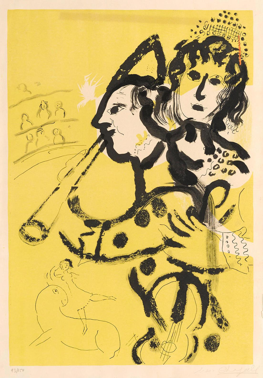 Marc Chagall-Musical Clown (M. 174)-1957