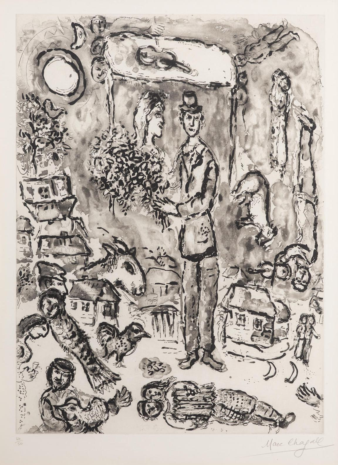 Marc Chagall-Le Mariage-1968