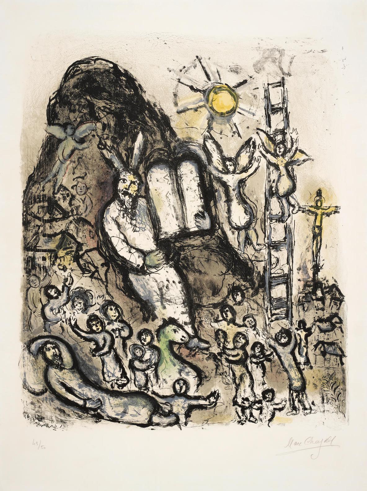 Marc Chagall-Vision De Moise (M. 702)-1973