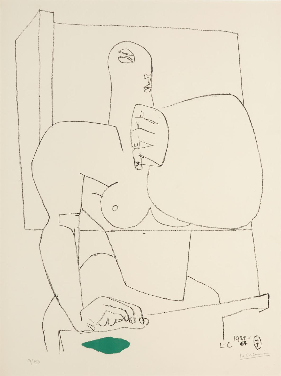 Le Corbusier-Athlete 7 (W. 58)-1964
