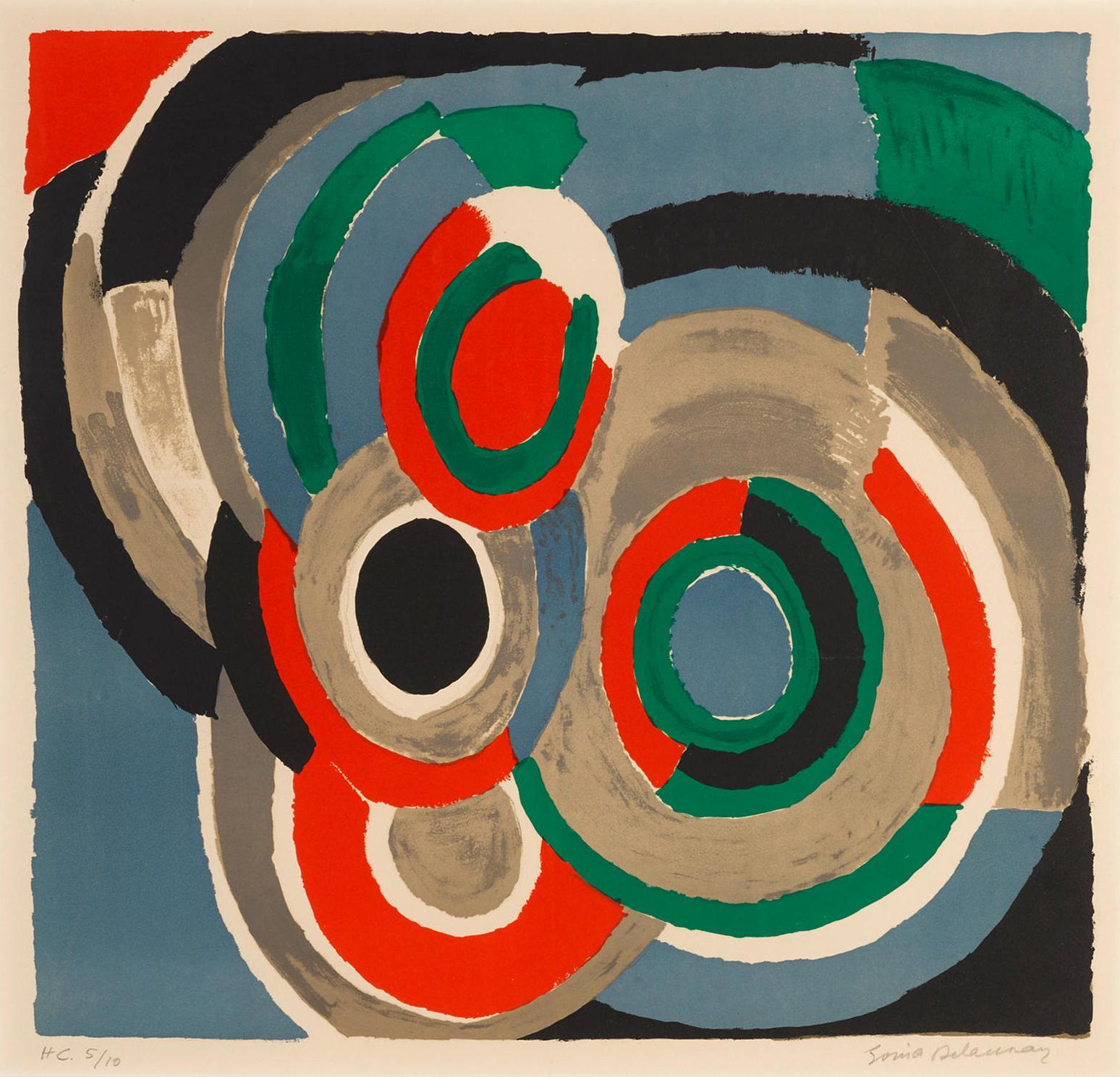 Sonia Delaunay-Hommage A Stravinsky-1970