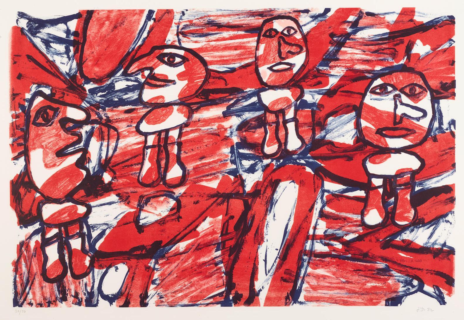 Jean Dubuffet-Les Passants (W. 1270)-1982
