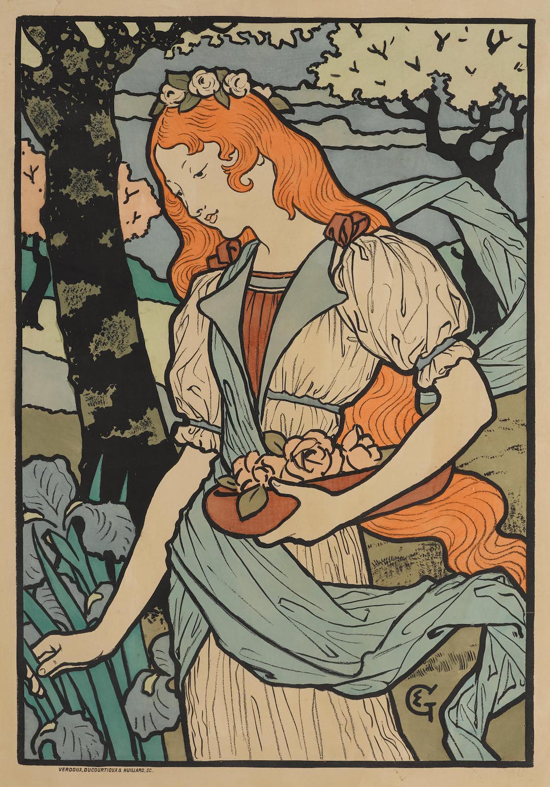 Eugene Grasset-Grafton Gallery (Dfp-II 406; Arwas P.31)-1893