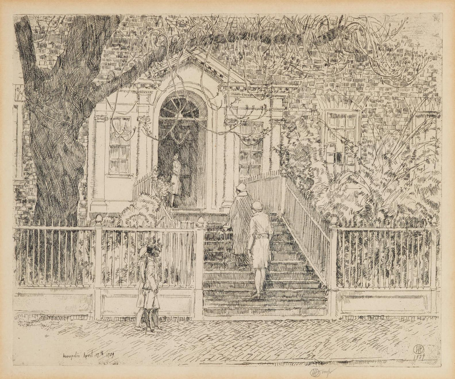 Childe Hassam-The Chase House, Annapolis (C./C. 309)-1929