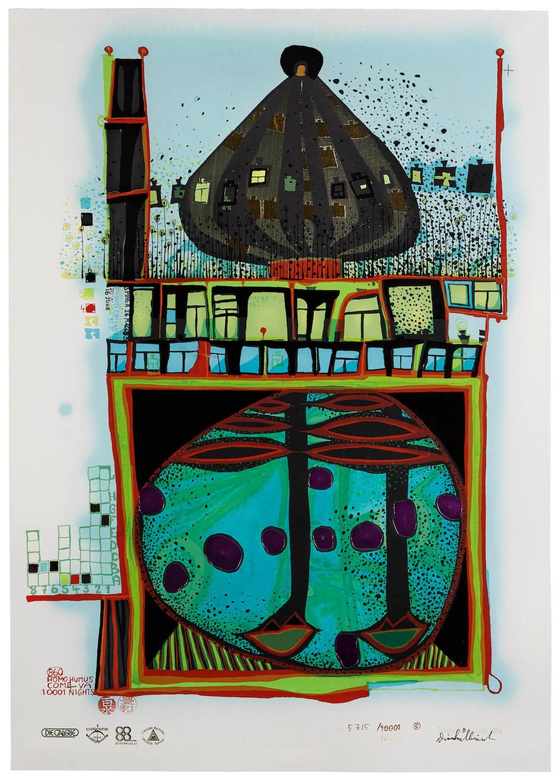 Friedensreich Hundertwasser-Homo Humus Come Va 10002 Nights (K. 83)-1984