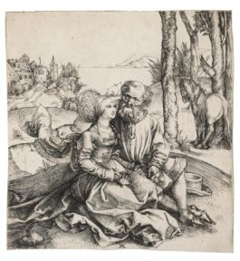 Albrecht Durer-The Ill-Assorted Couple (B. 93; M., Holl. 77; S.M.S. 3)-1495