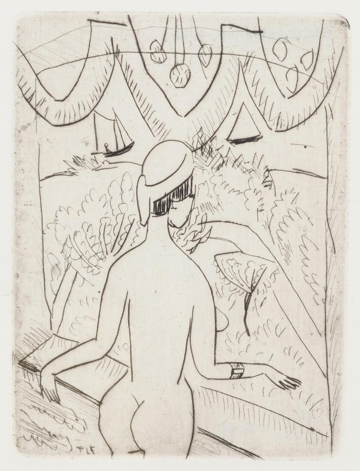 Ernst Ludwig Kirchner-Nackte Frau Am Fenster (D./R. 147)-1912