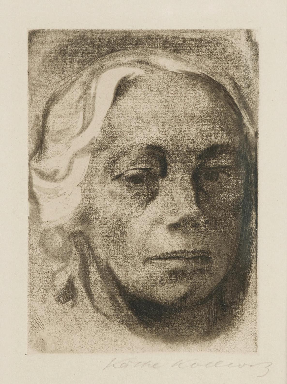 Kathe Kollwitz-Selbstbildnis (K. 122; Kn. 126 VII C), 1912-1912