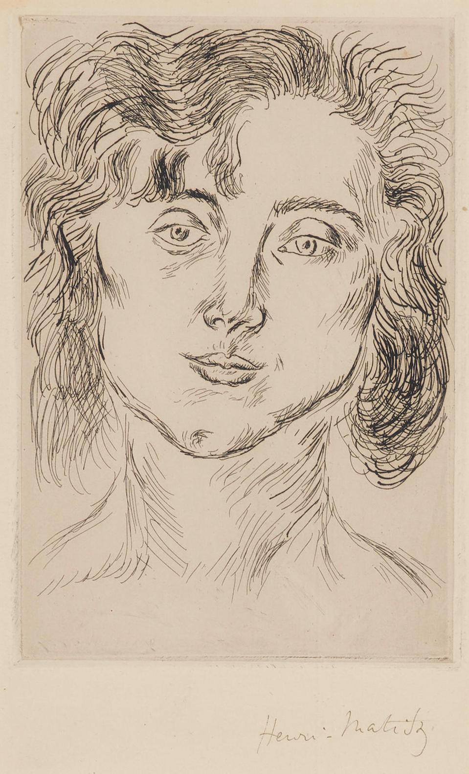 Henri Matisse-Mlle. M. M., From Cinquante Dessins (D. Bk. 2)-1920