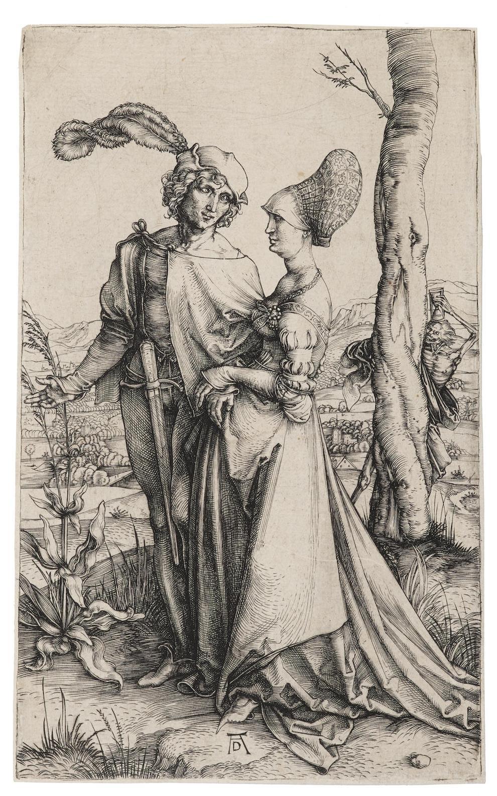 Albrecht Durer-The Promenade (B. 94; M., Holl. 83; S.M.S. 19)-1498