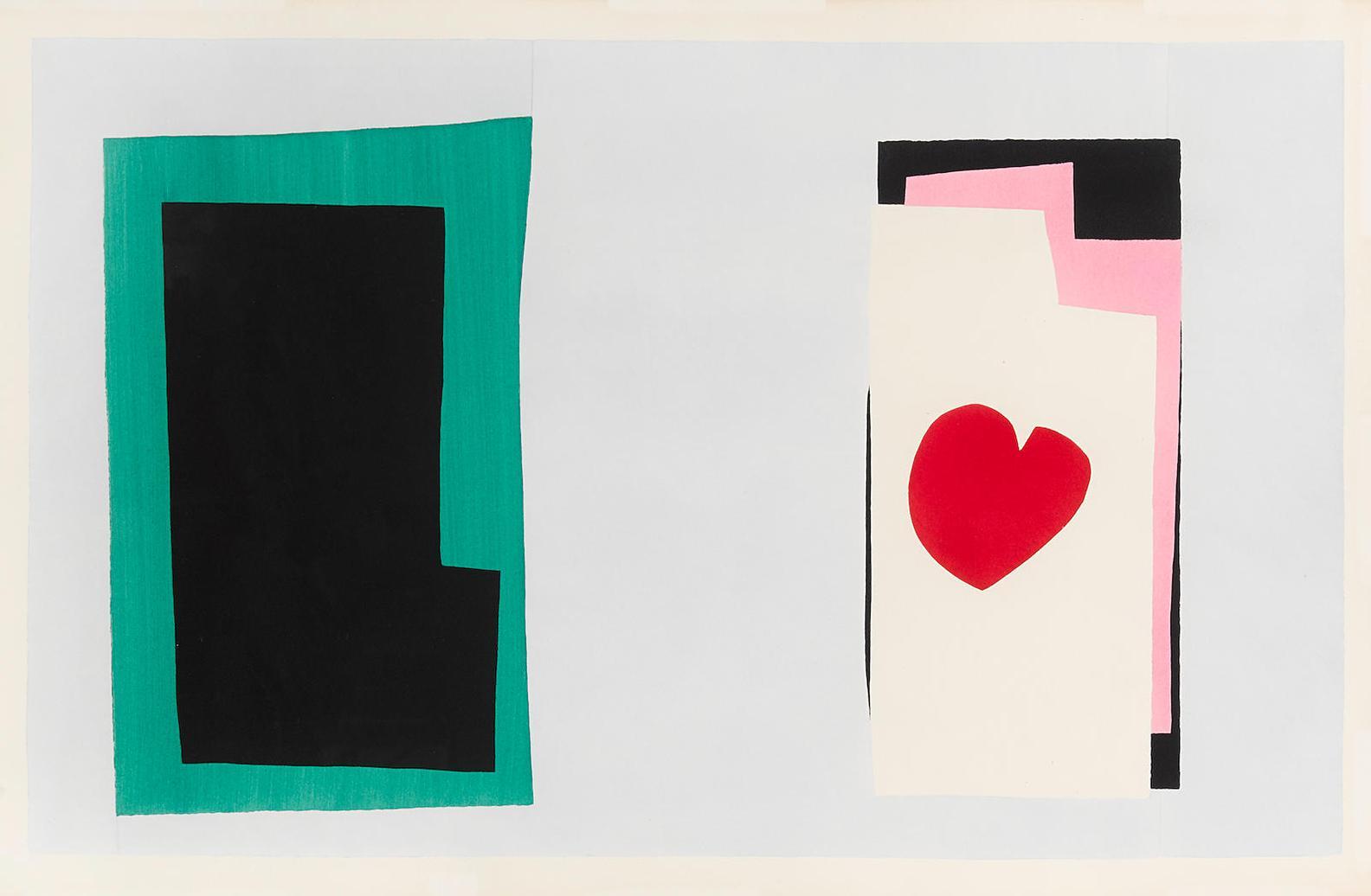 Henri Matisse-Le Coeur, Pl. Vii, From Jazz (D. Bk. 22)-1947