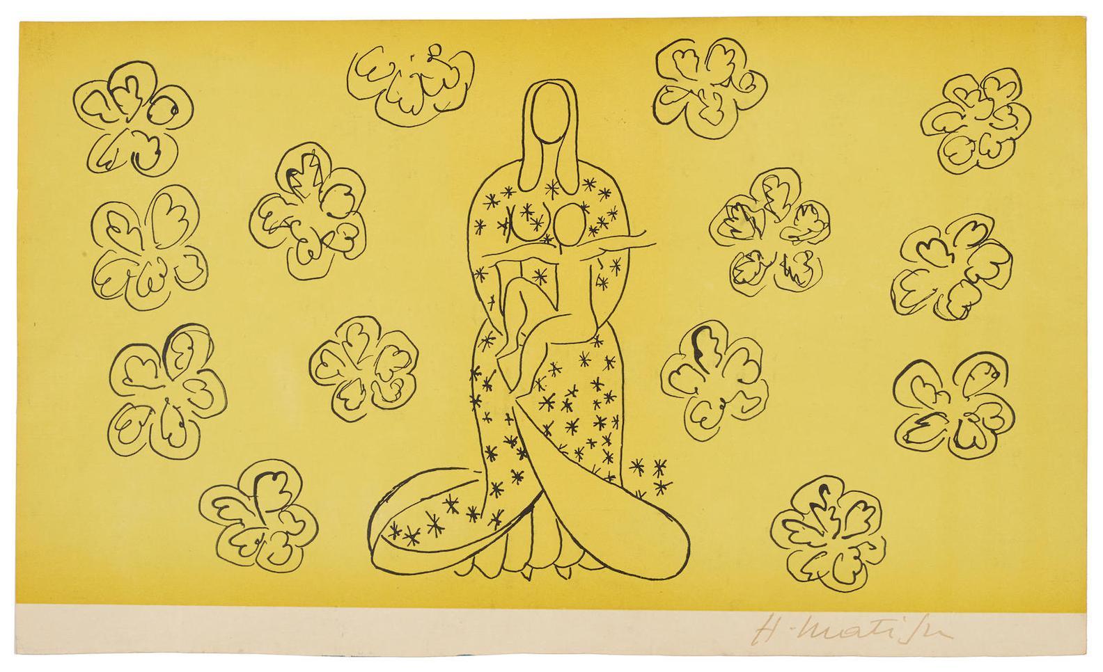 Henri Matisse-After Henri Matisse - La Vierge Et Lenfant-1949