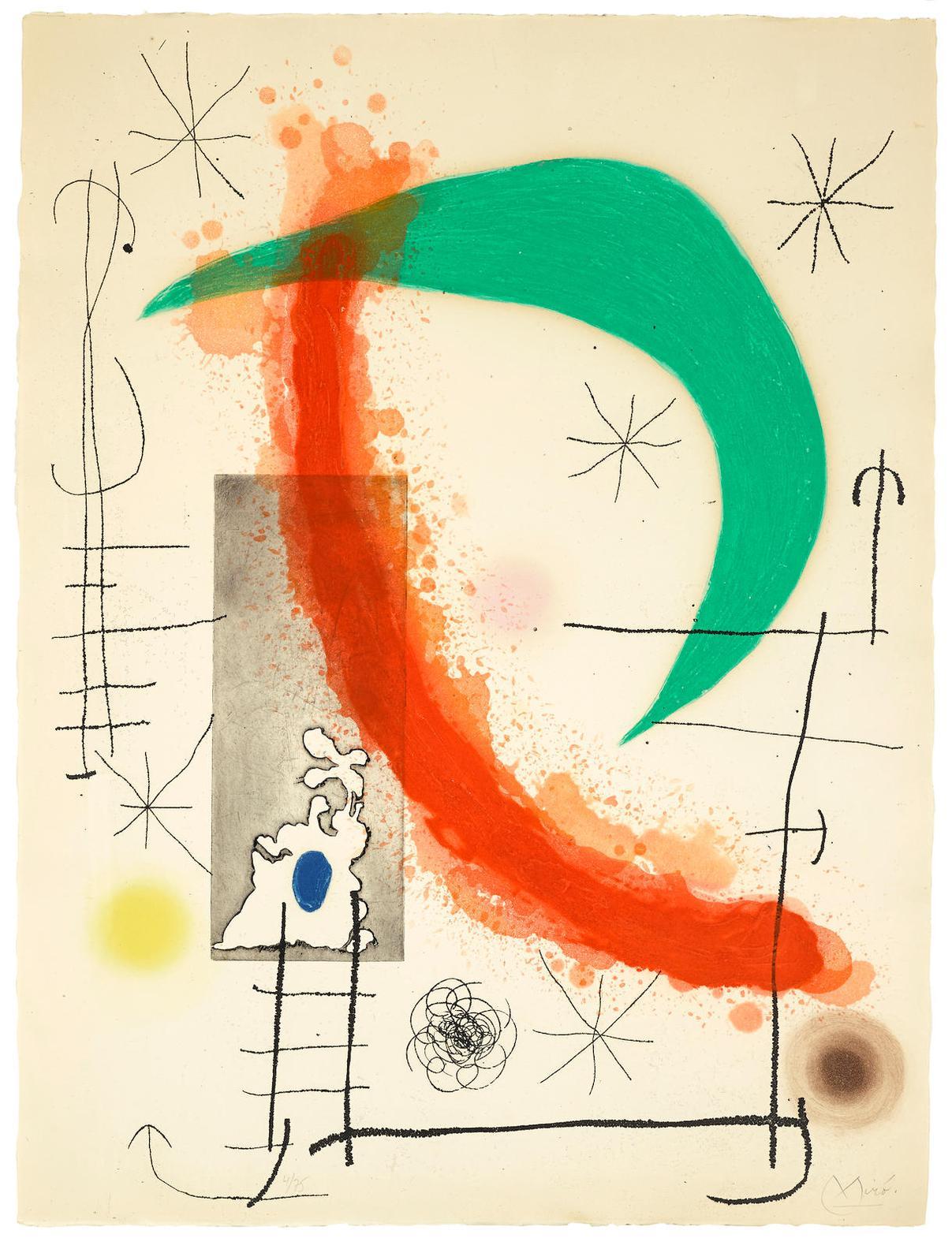 Joan Miro-Escalade (D. 494)-1969