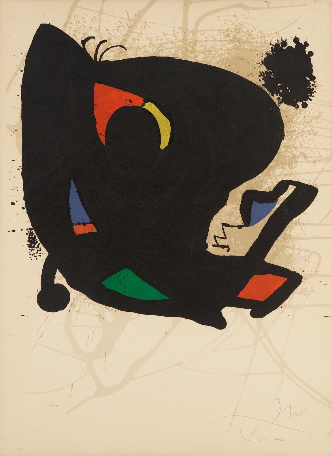 Joan Miro-Poster For Exhibition Miro Loeuvre Graphique (M. 947)-1974