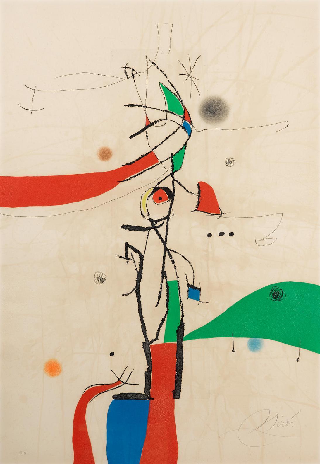 Joan Miro-Demi-Mondaine A Sa Fenetre (D. 742)-1975
