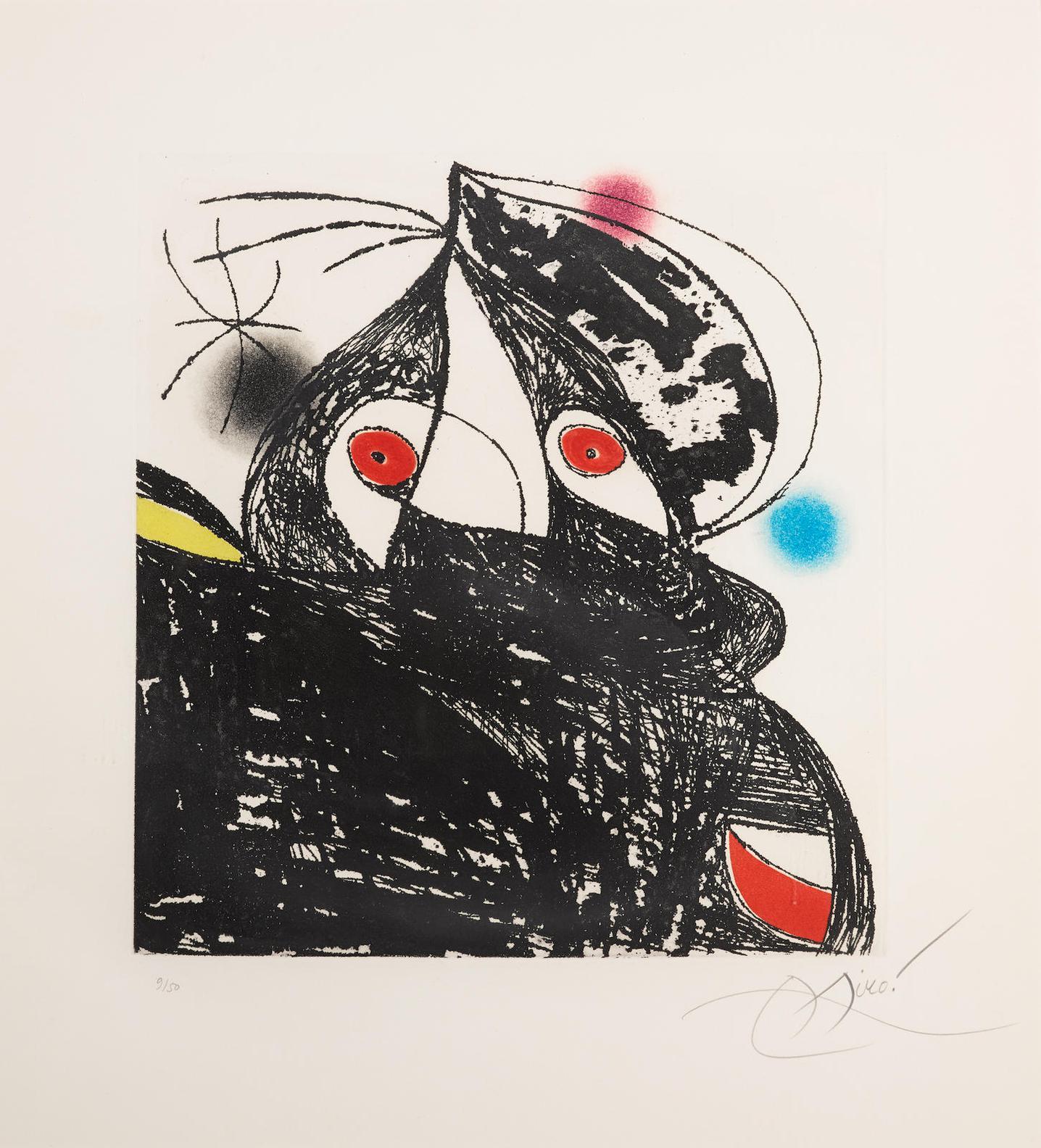 Joan Miro-Personnage Romantique (D. 748)-1975