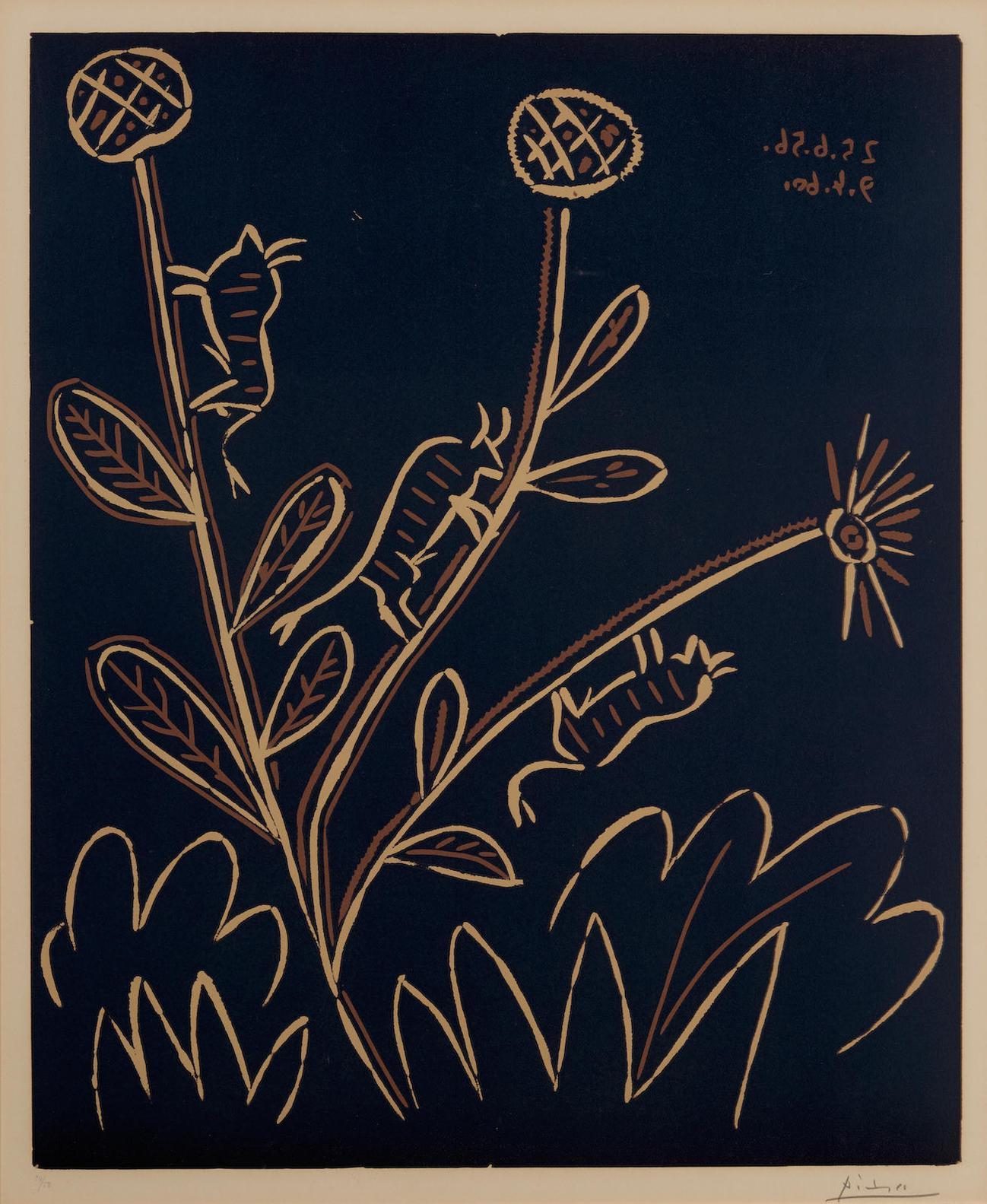 Pablo Picasso-Plante Aux Toritos (B. 948; Ba. 1214)-1956