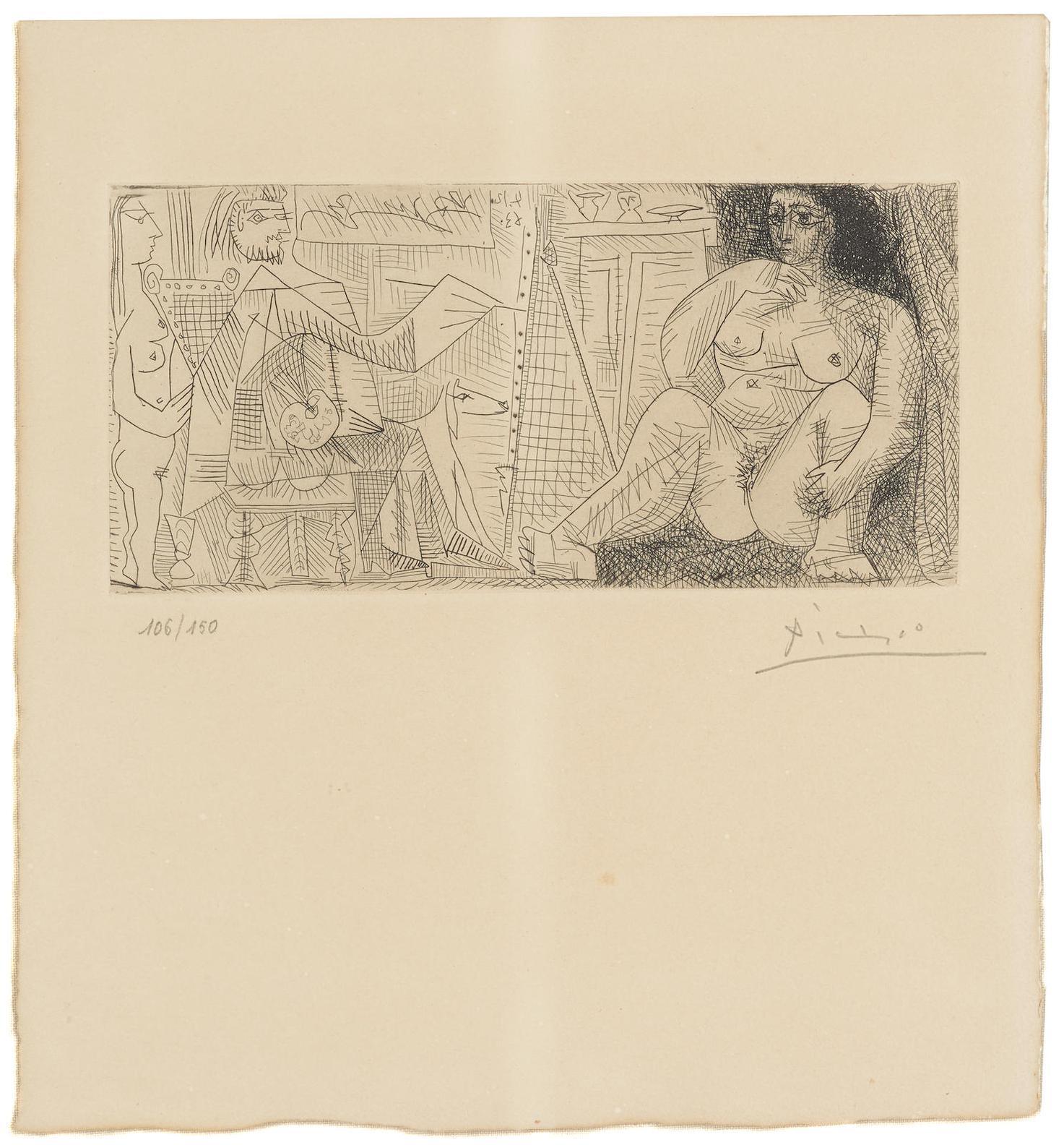 Pablo Picasso-Le Peintre Et Son Modele, From Dans Latelier (B. 1139; Ba. 1136)-1963