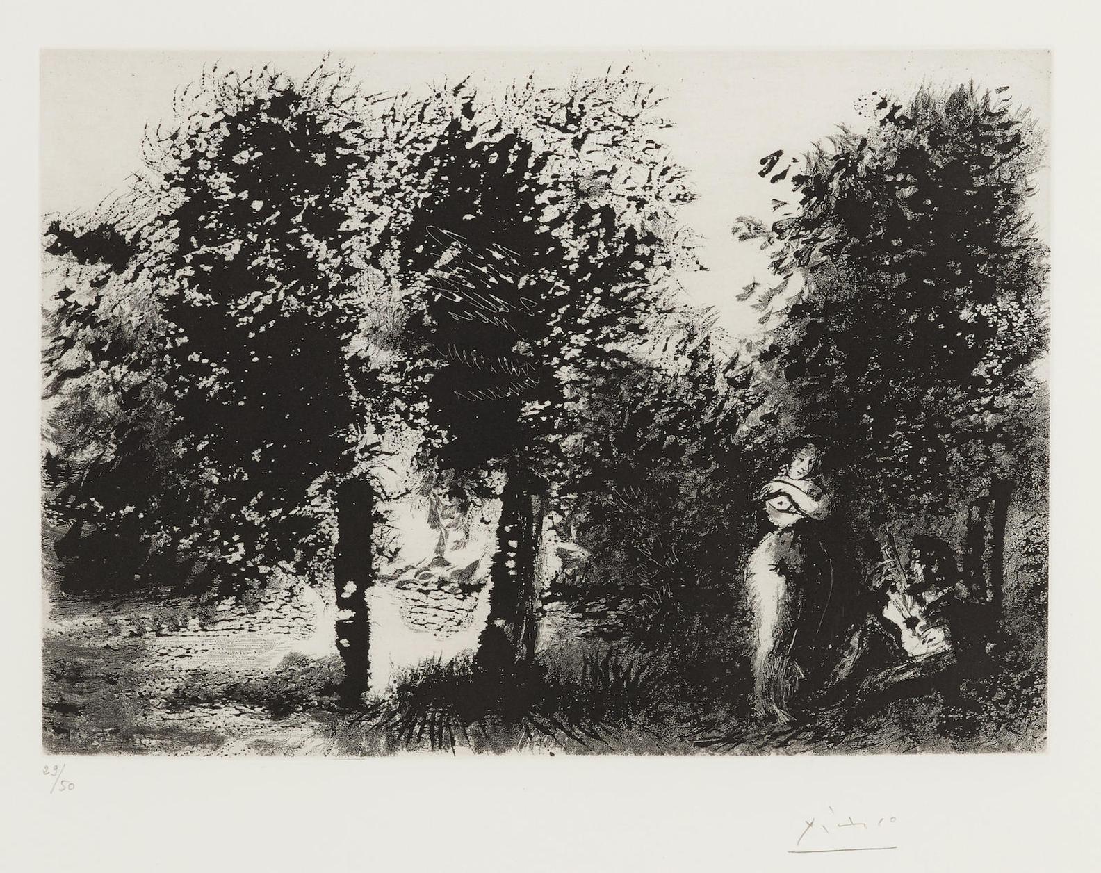 Pablo Picasso-Serenade Au Coucher Du Soleil Dans Un Sous-Bois A La Monet, From Series 347 (B. 1827; Ba. 1844)-1968