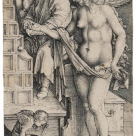 Albrecht Durer-The Dream Of The Doctor (Temptation Of The Idler) (B. 76; M., Holl. 70)-1498