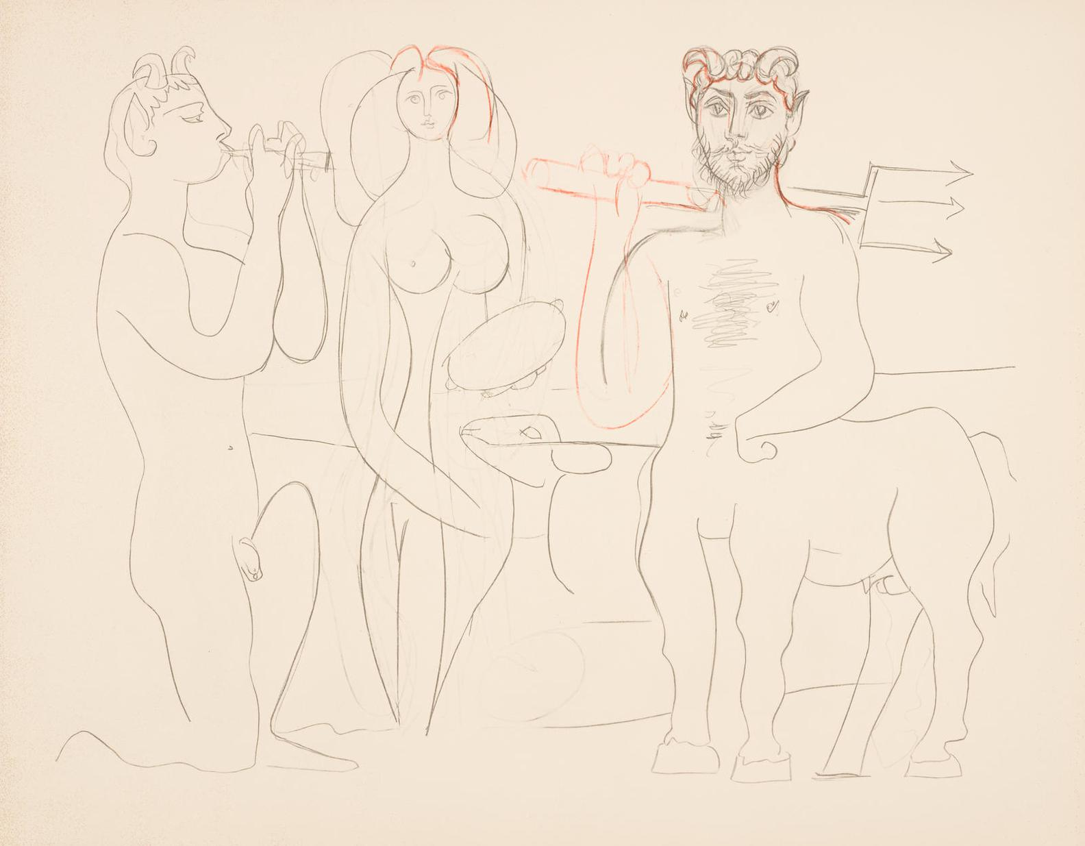 Pablo Picasso-After Pablo Picasso - Mes Dessins Aantibes-1958