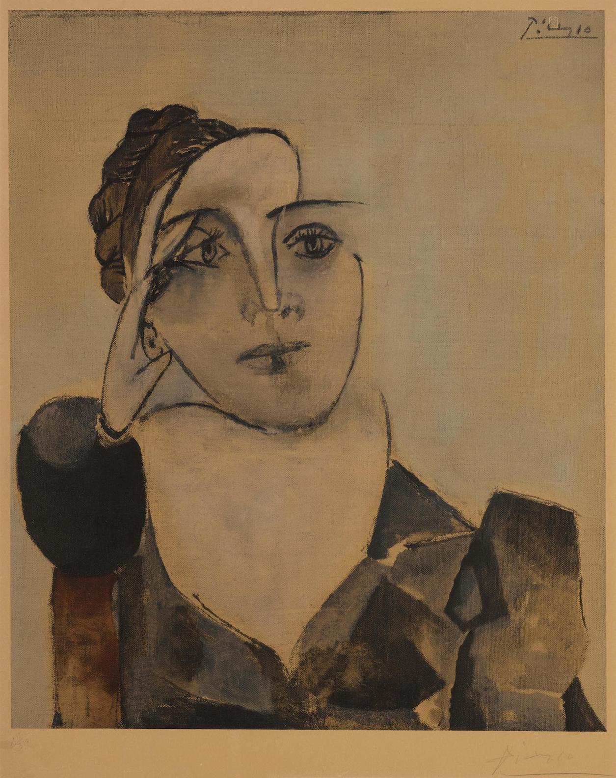 Pablo Picasso-After Pablo Picasso - Portrait De Dora Maar-1960