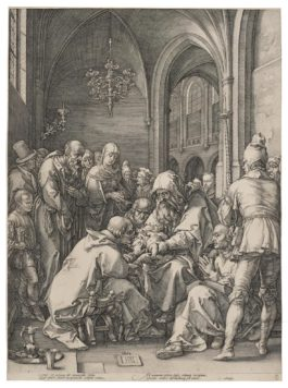 Hendrik Goltzius - The Circumcision, From The Life Of The Virgin  (H.12; New Holl. 11)-1594