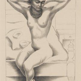 Diego Rivera-Desnudo Sentado Con Brazos Levantados-1930