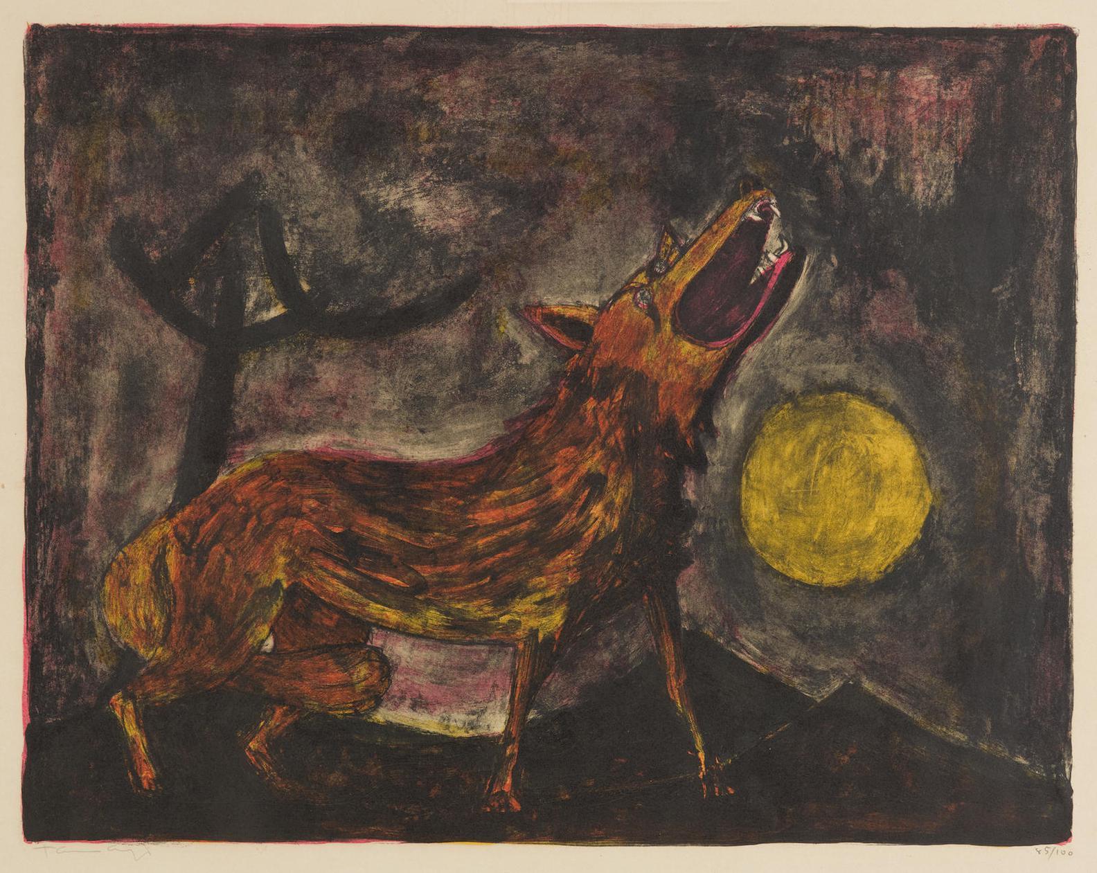 Rufino Tamayo-Coyote (P. 34), 1950-