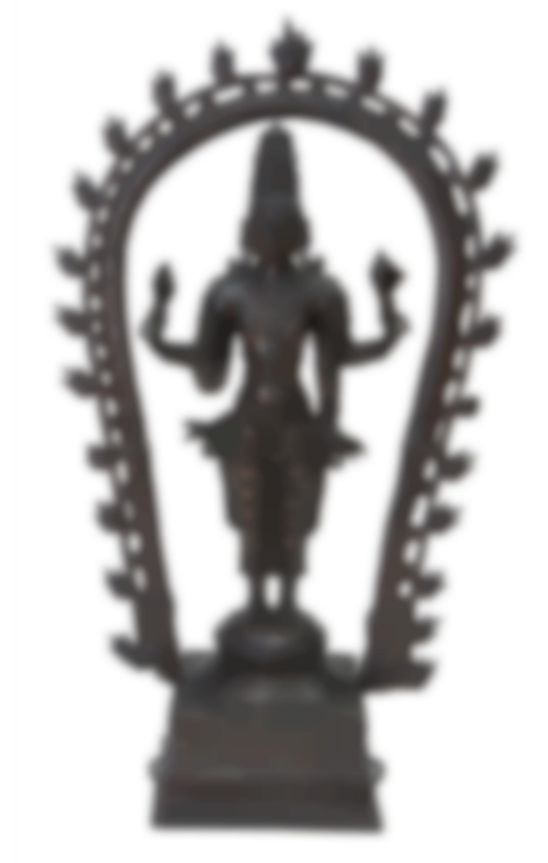 Indian Sculpture - An Impressive Figure Of Vishnu-