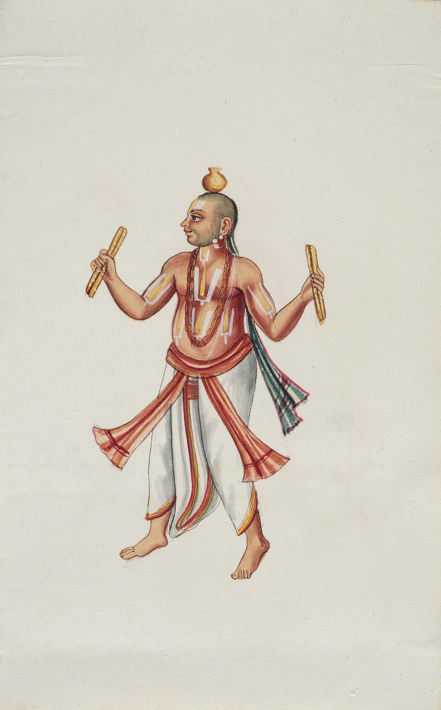 Company Painting - Vaishnava Mendicant-1850