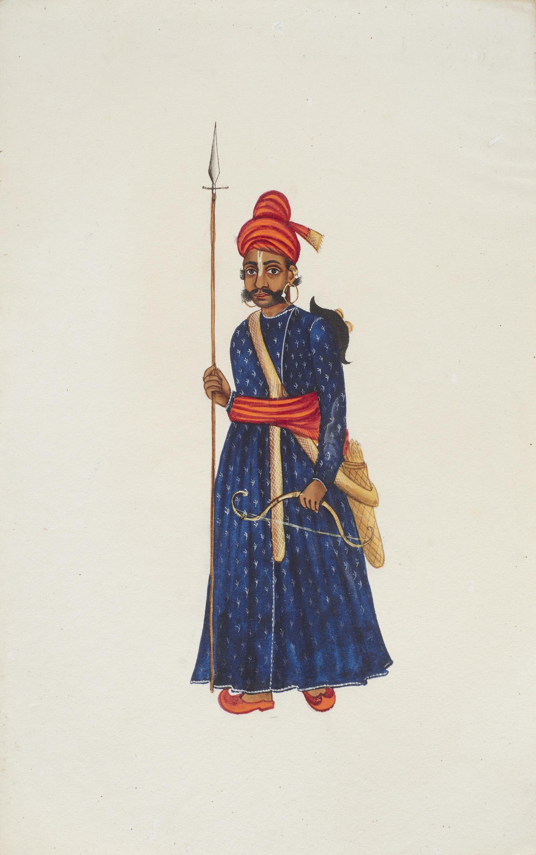 Company Painting - Rajput Warrior-1850