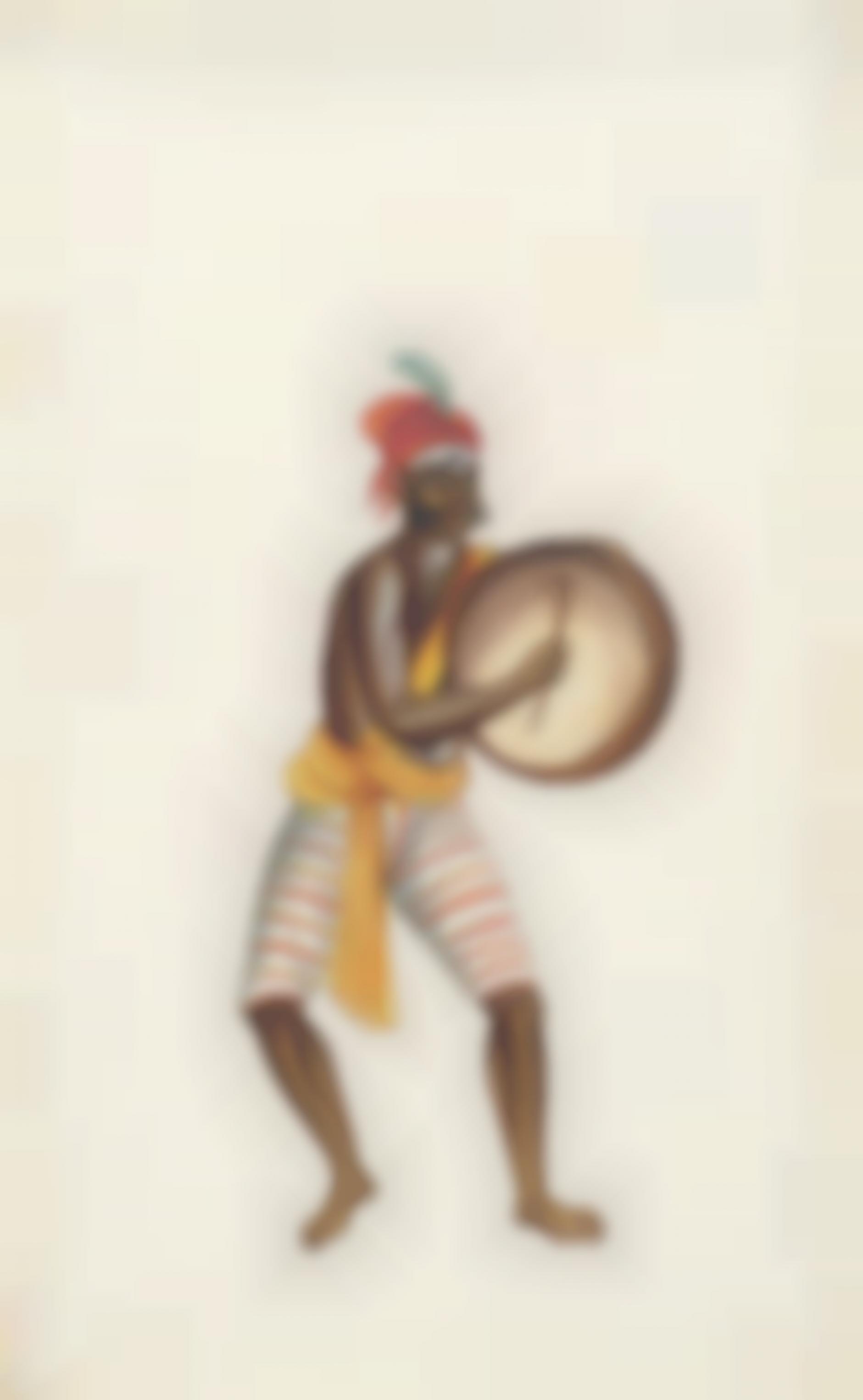 Company Painting - Dancing Devotee-1850