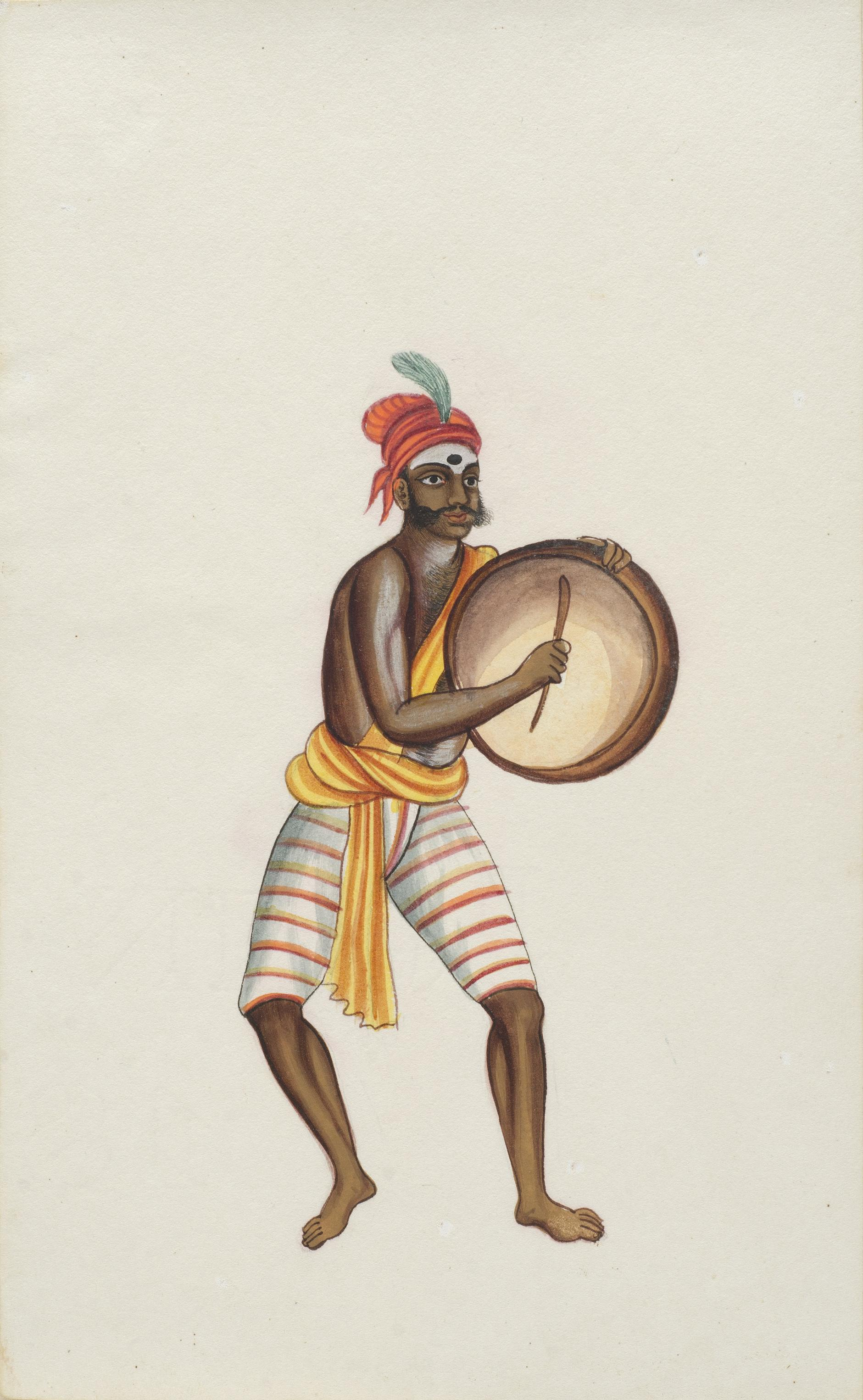 Company Painting - Dancing Devotee-1850