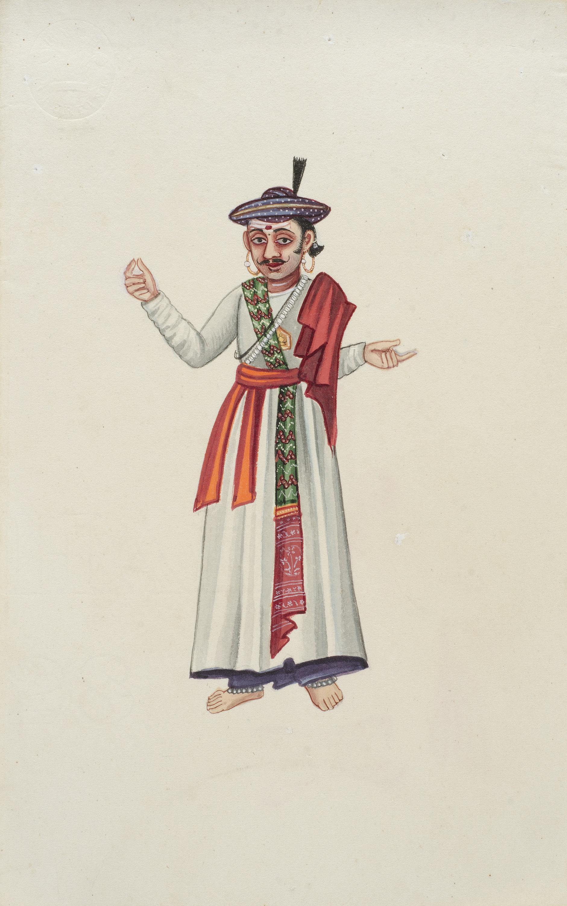 Company Painting - Hindu Devotee-1850