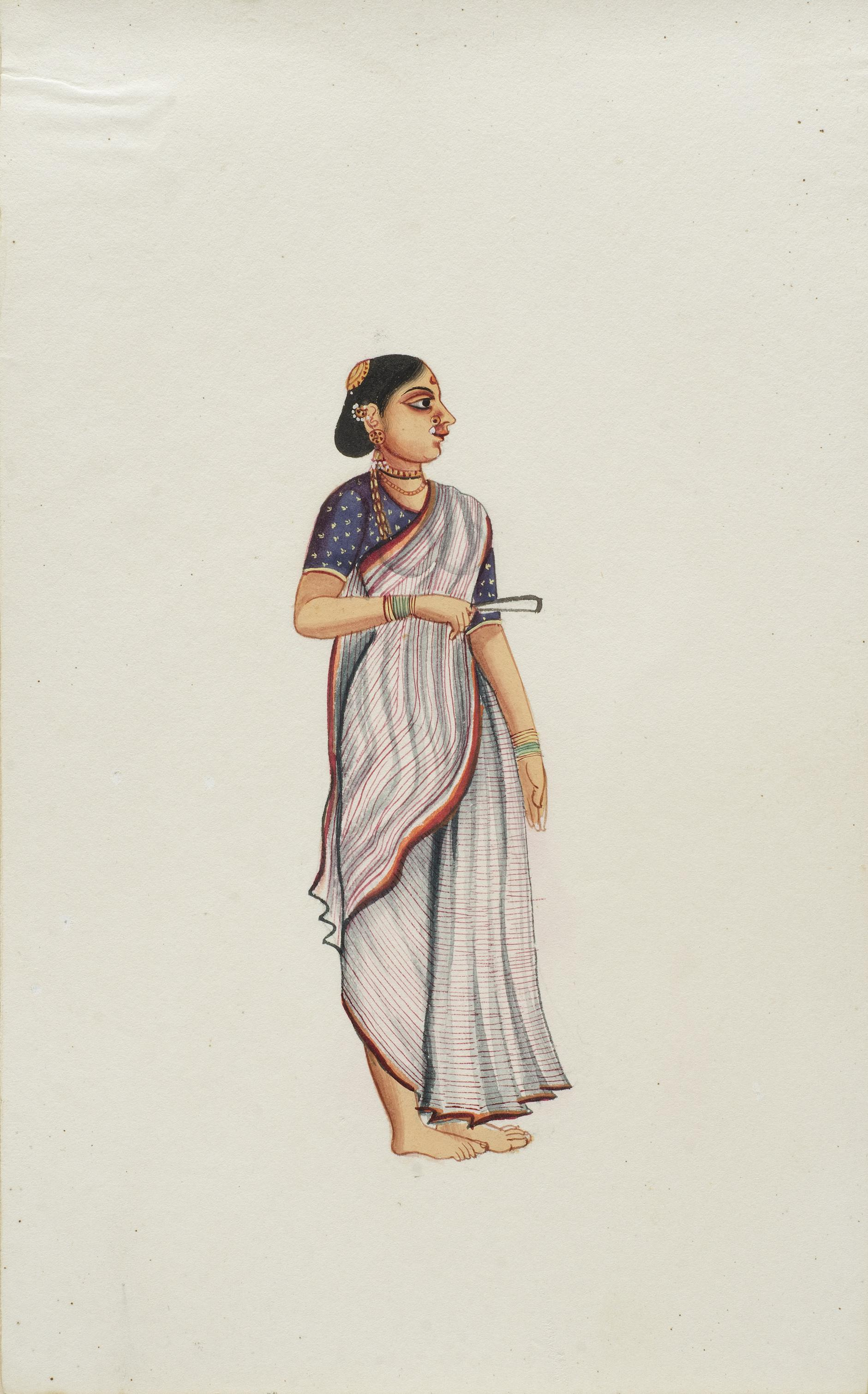 Company Painting - Woman With A Fan-1850