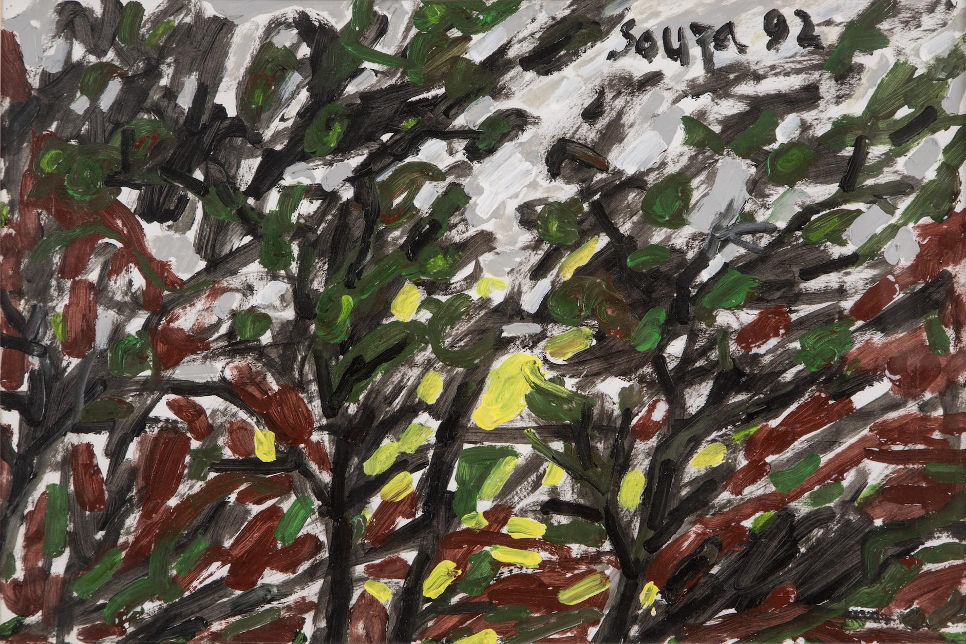 Francis Newton Souza-Untitled (Landscape)-1992