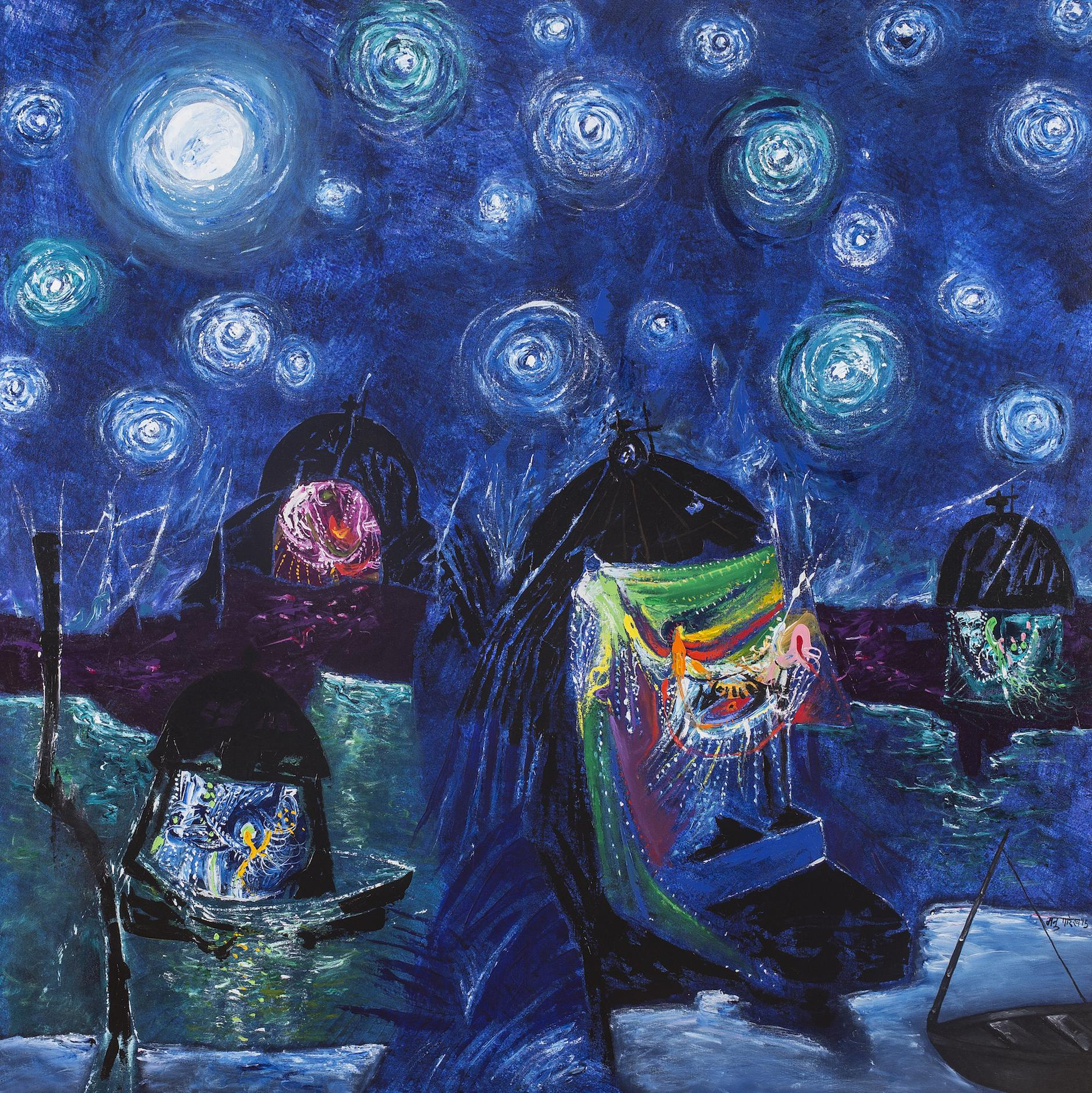 Manu Parekh-Starry Night-2015