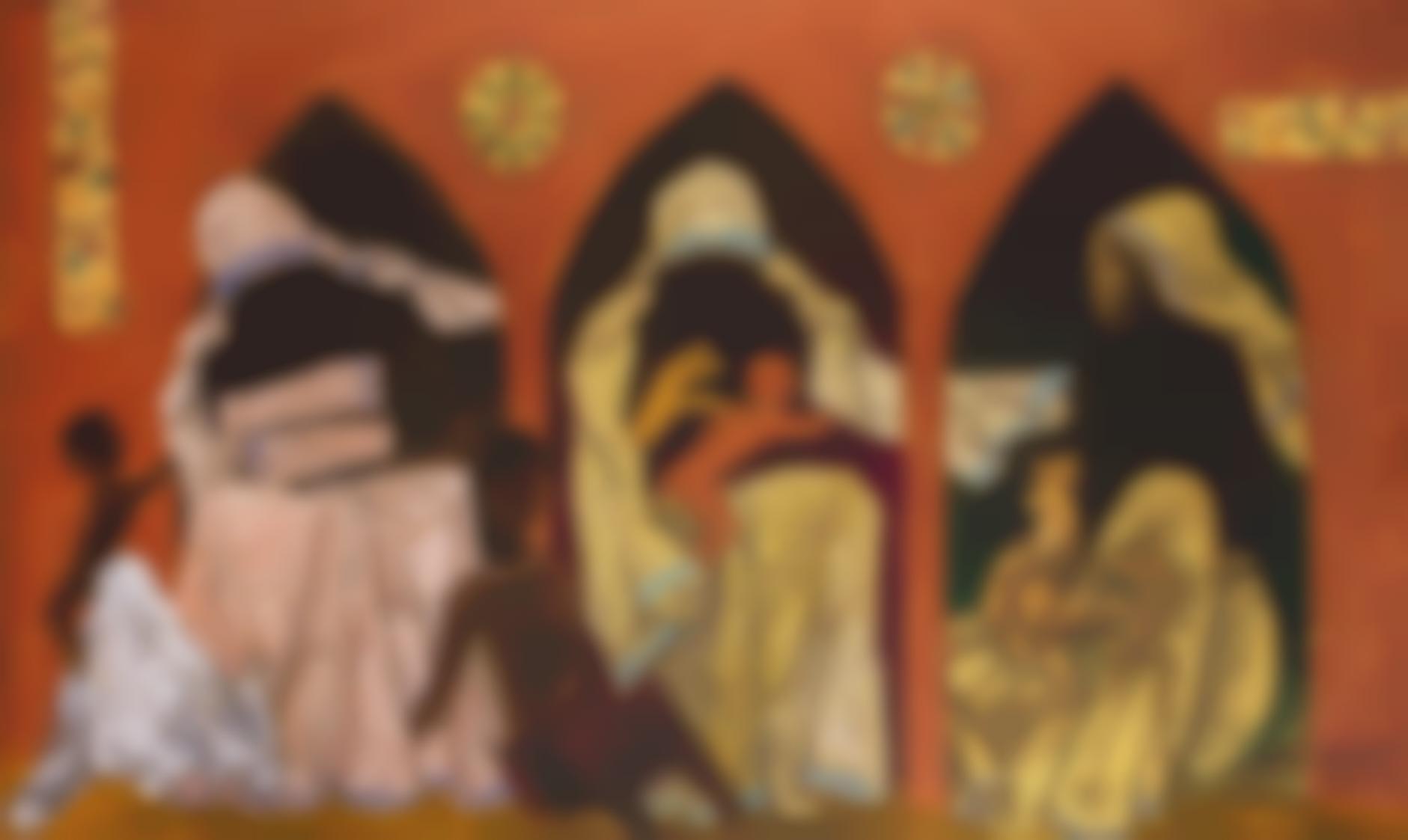 Maqbool Fida Husain-Trinity Of Mother Teresa-1989