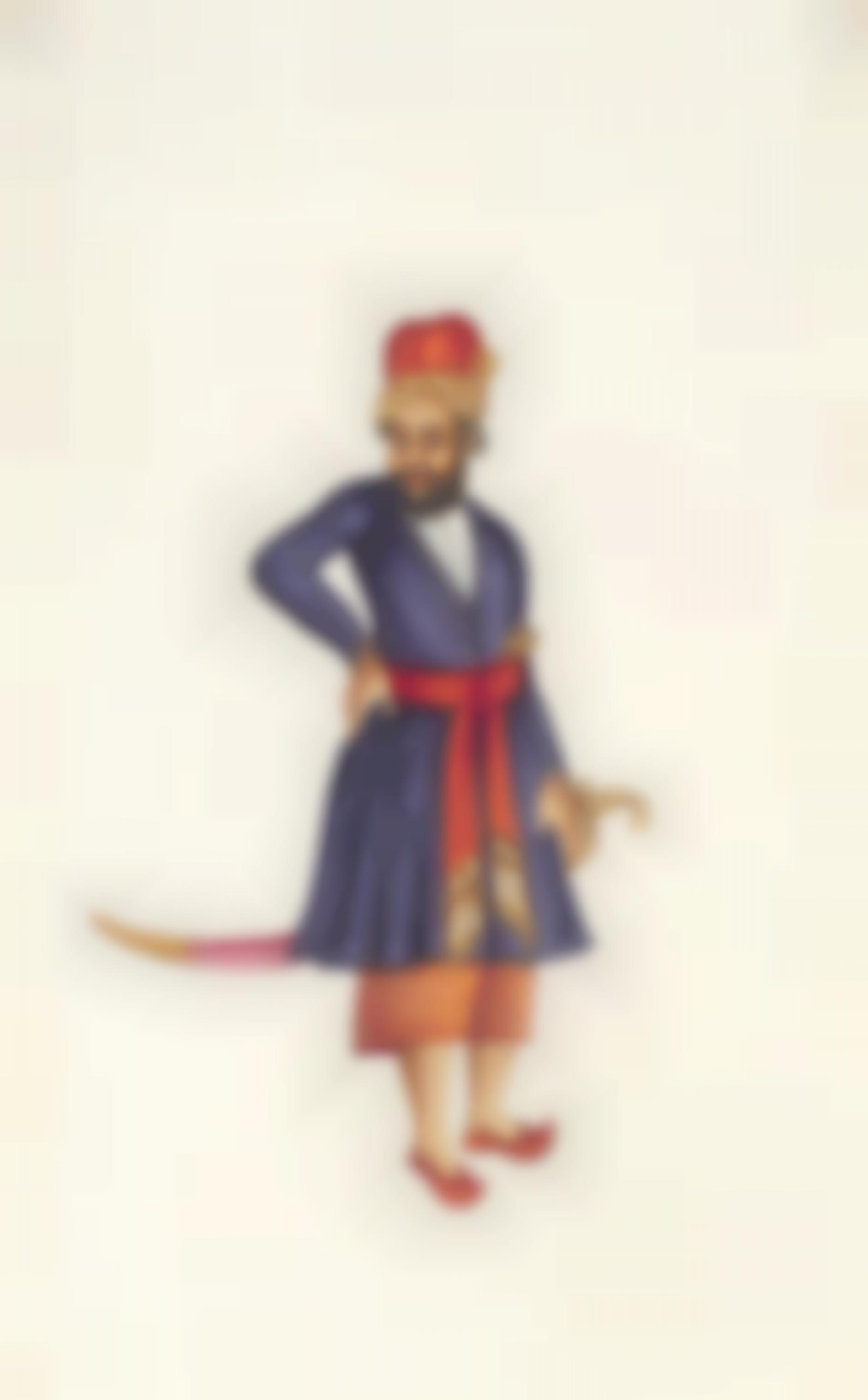 Company Painting - Mughal Nobleman-1850