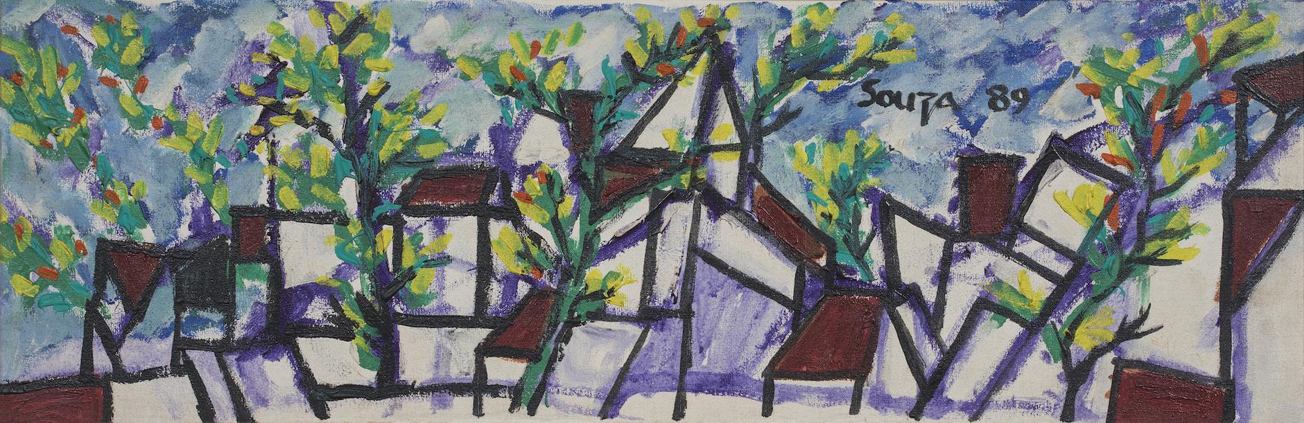 Francis Newton Souza-Untitled (Landscape)-1989