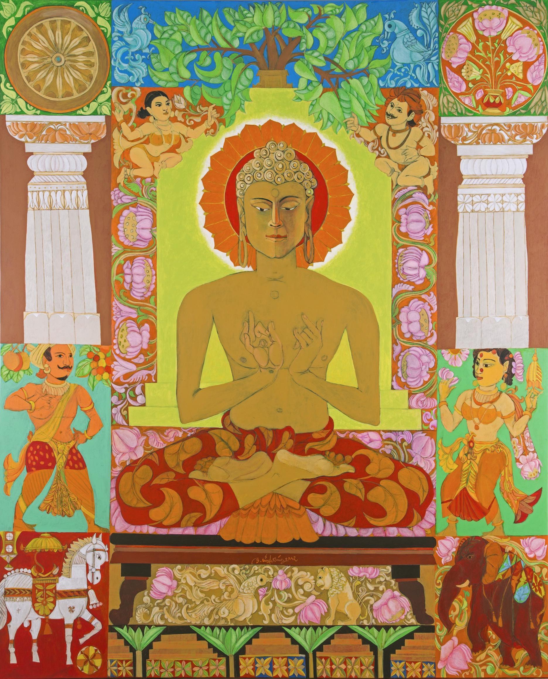 K. Laxma Goud-Untitled (Buddha)-2017