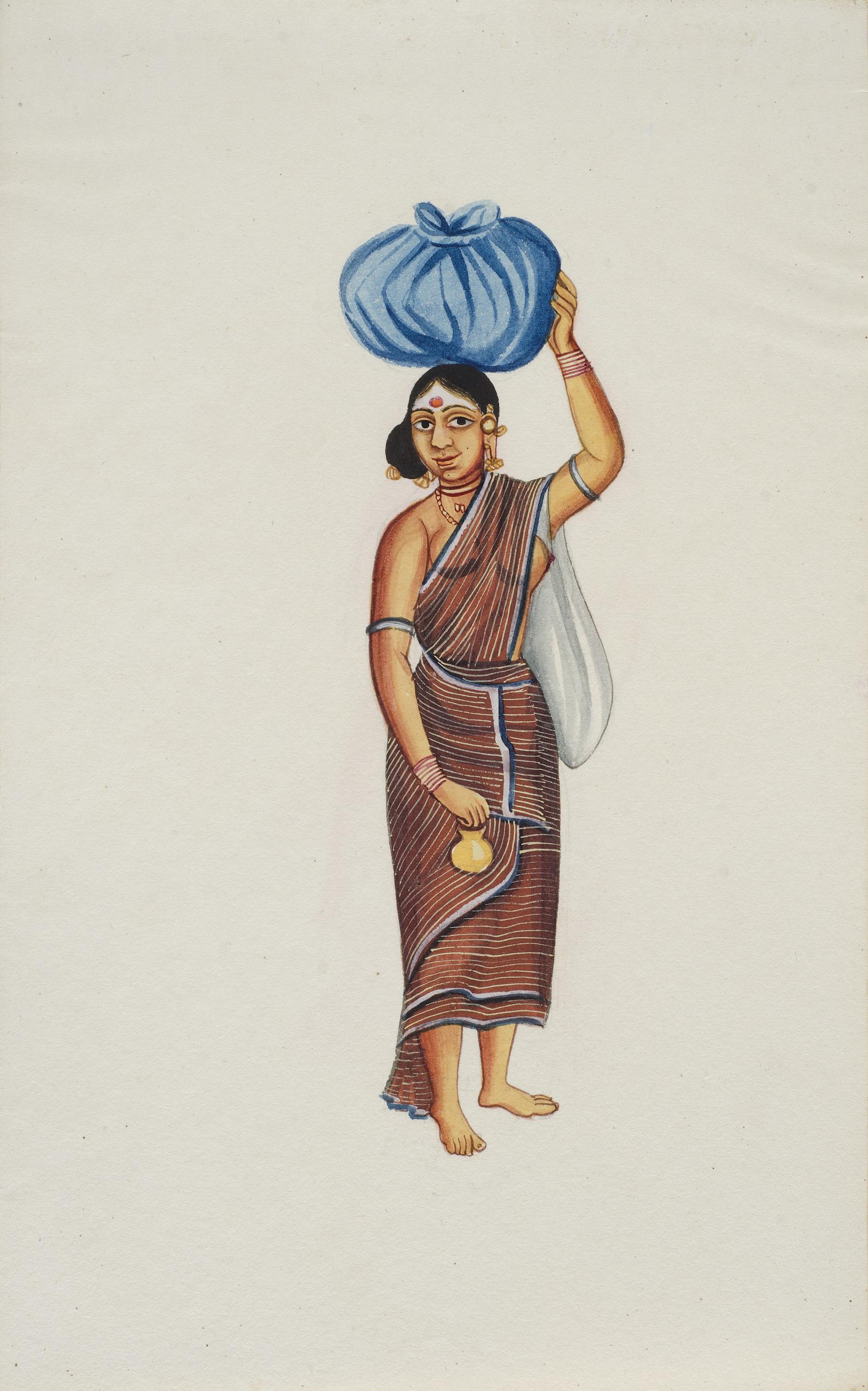 Company Painting - Woman Pilgrim-1850