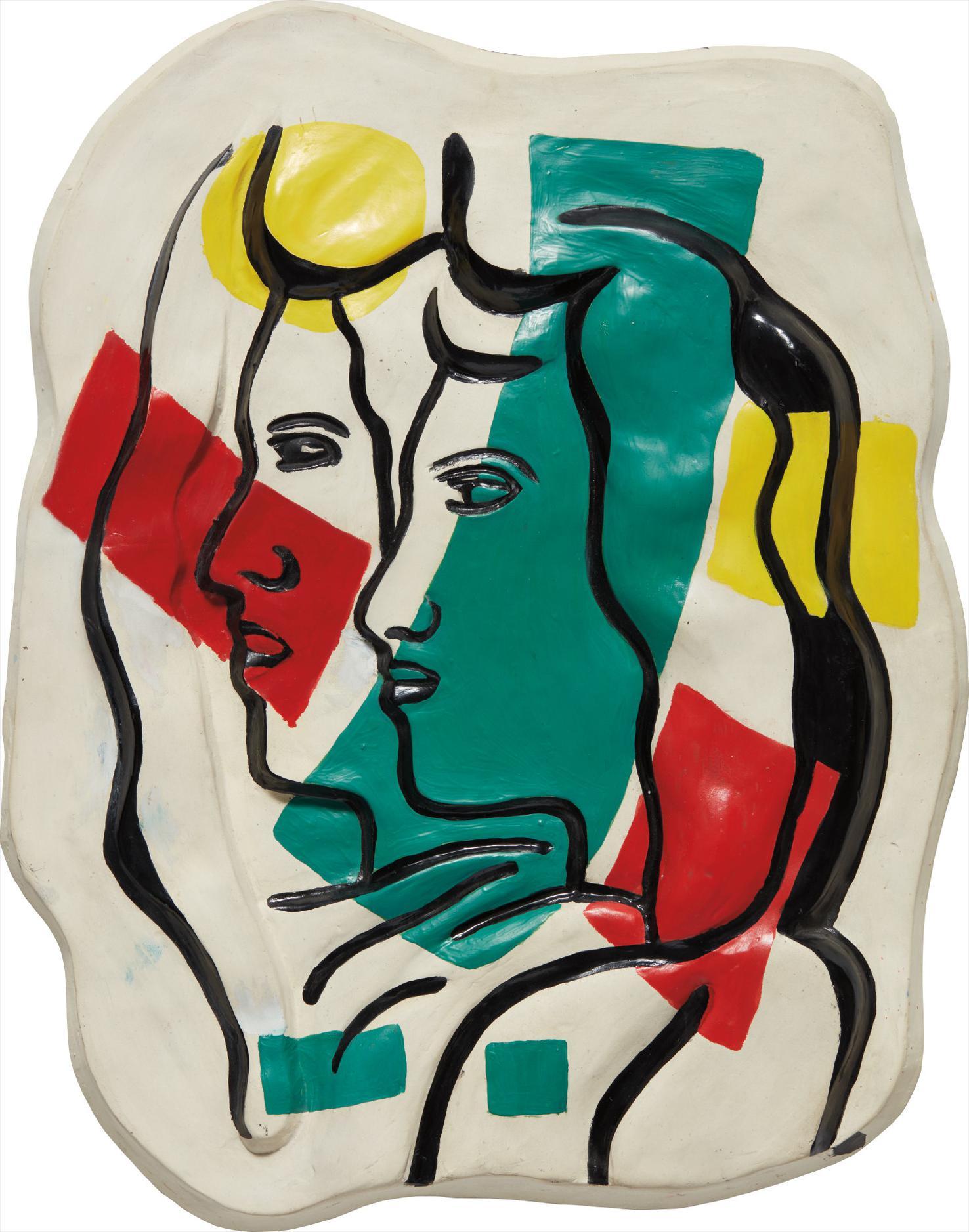 Fernand Leger-Les Deux Profils-1952
