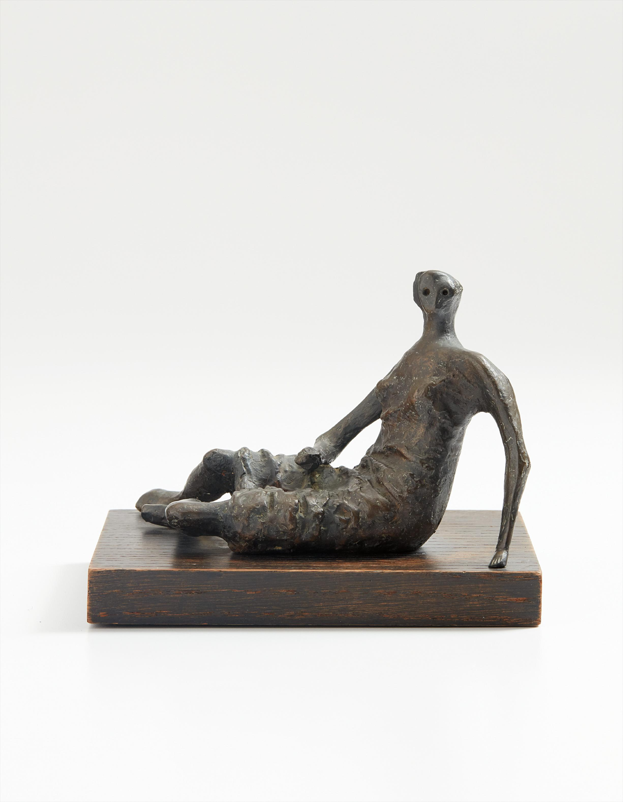 Henry Moore-Maquette For Draped Reclining Woman-1956