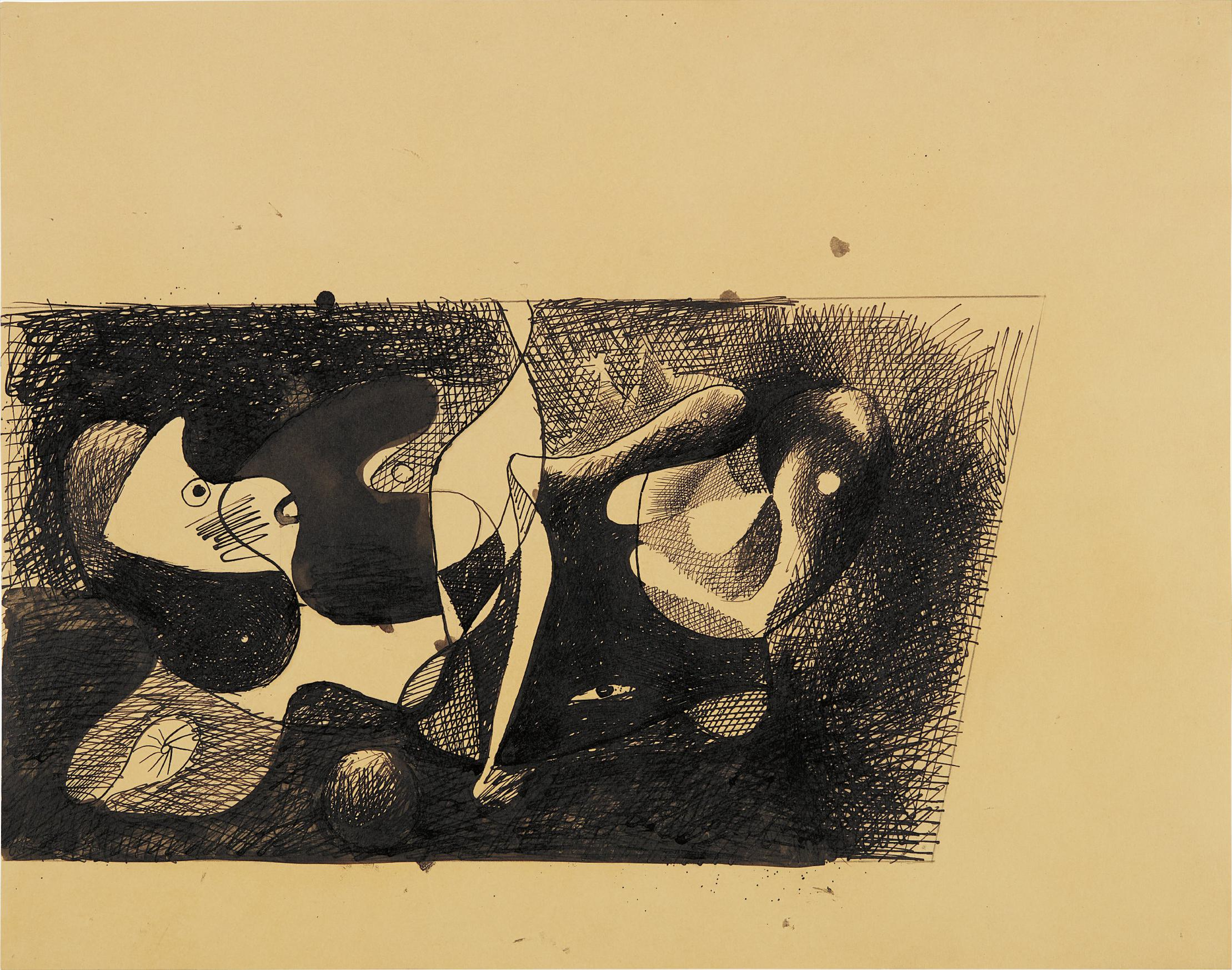 Arshile Gorky-Study For Nighttime, Enigma And Nostalgia-1932