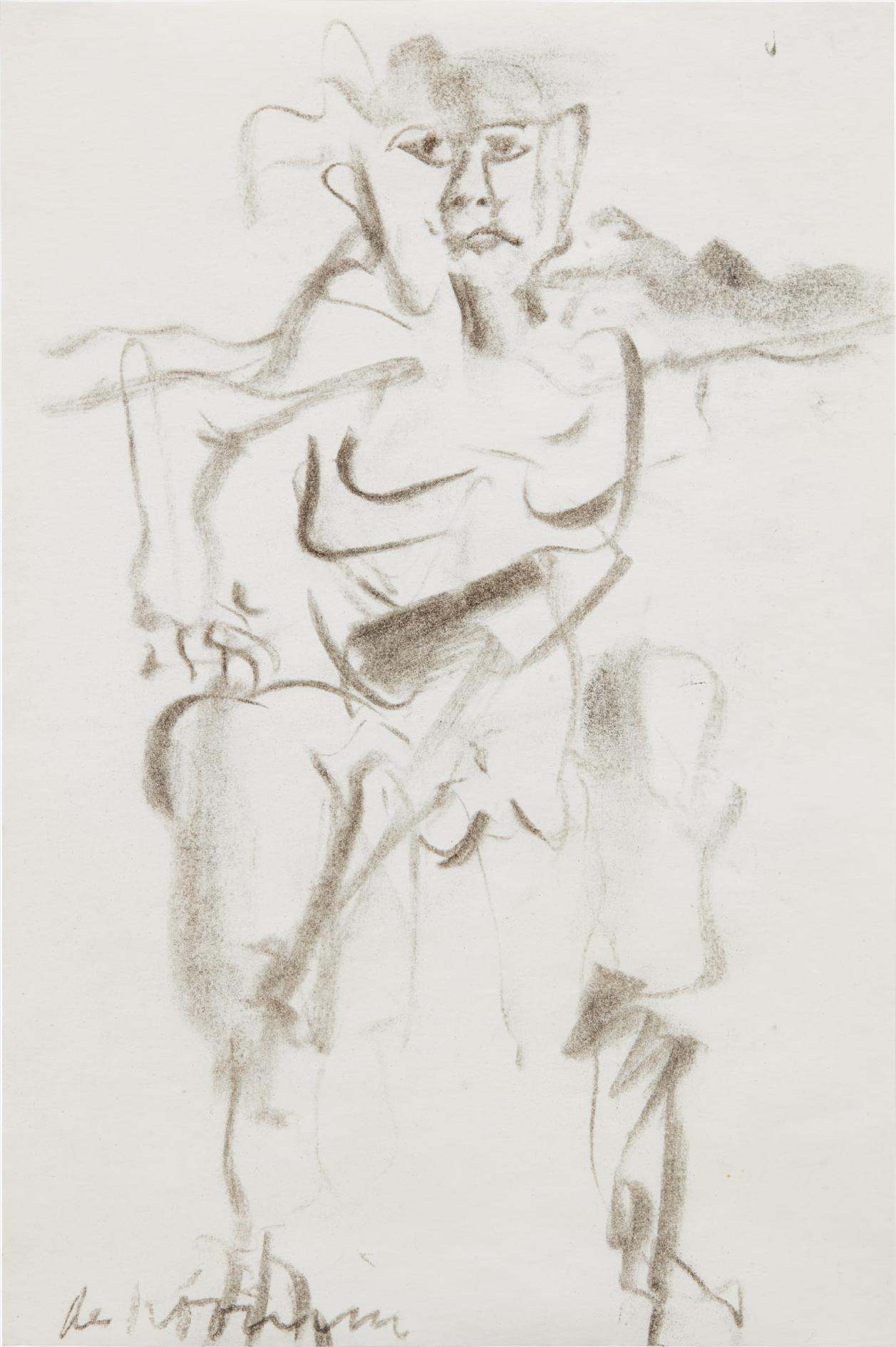 Willem de Kooning-Untitled (Man)-1966