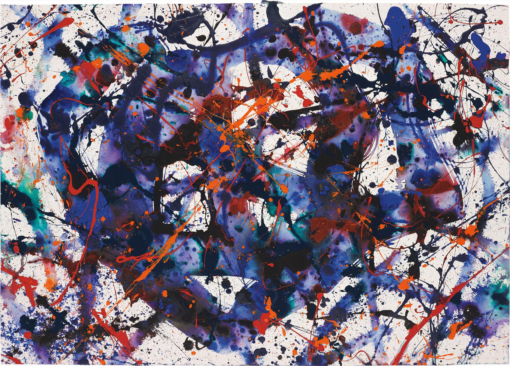 Sam Francis-A Dream, An Image, Auto Portrait-1990